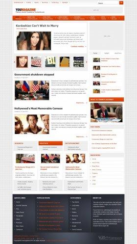 Youmagazine - News Joomla Template