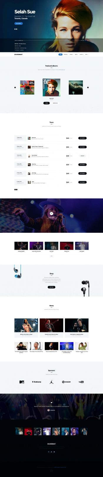 Soundbeat - Joomla Music eCommerce Template