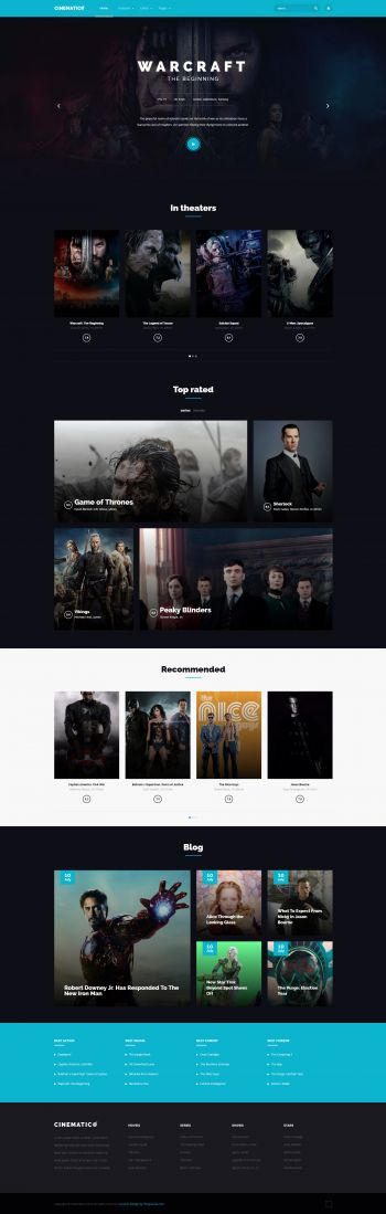 Cinematico - Joomla Movies Template