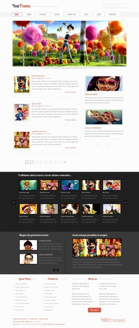 YouToons- Cartoons Joomla! Template