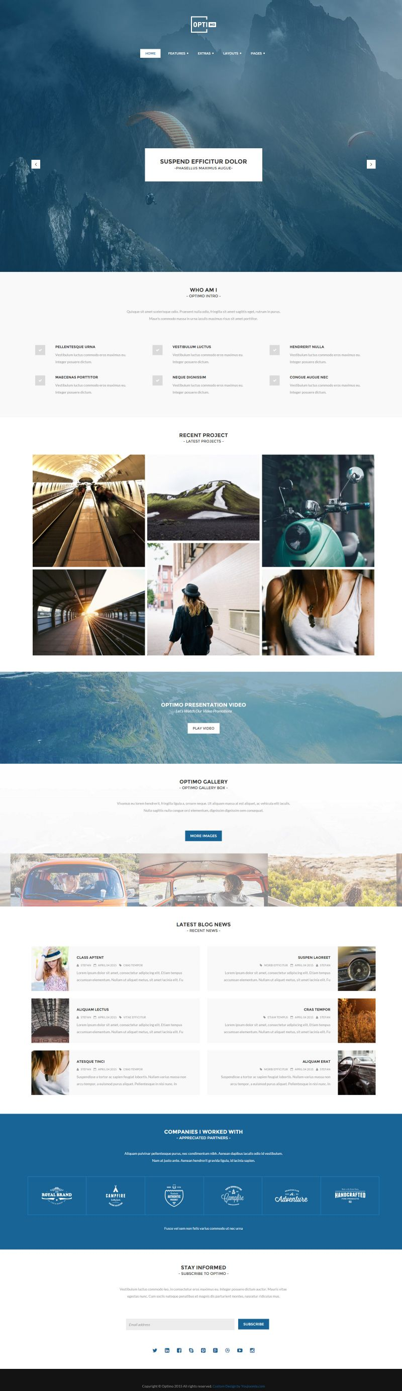 Optimo - Portfolio Joomla Template