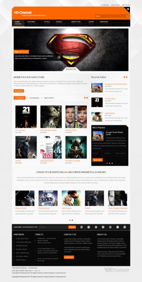 HD Channel - Movies Joomla Template