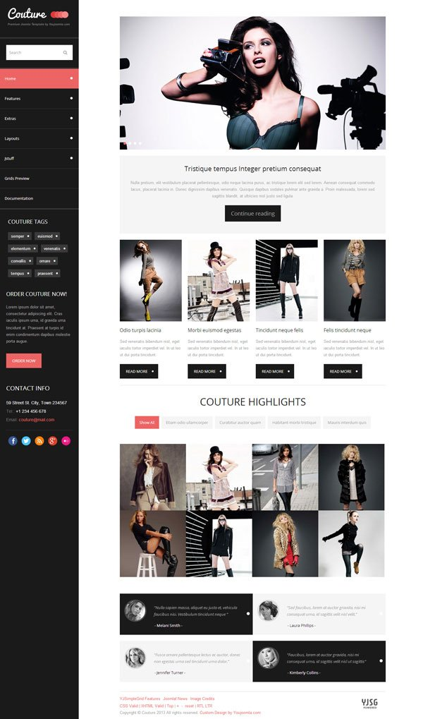 Couture - Joomla Fashion and Style Magazine Template