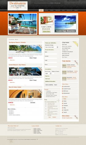 Destination - Joomla Travel Template