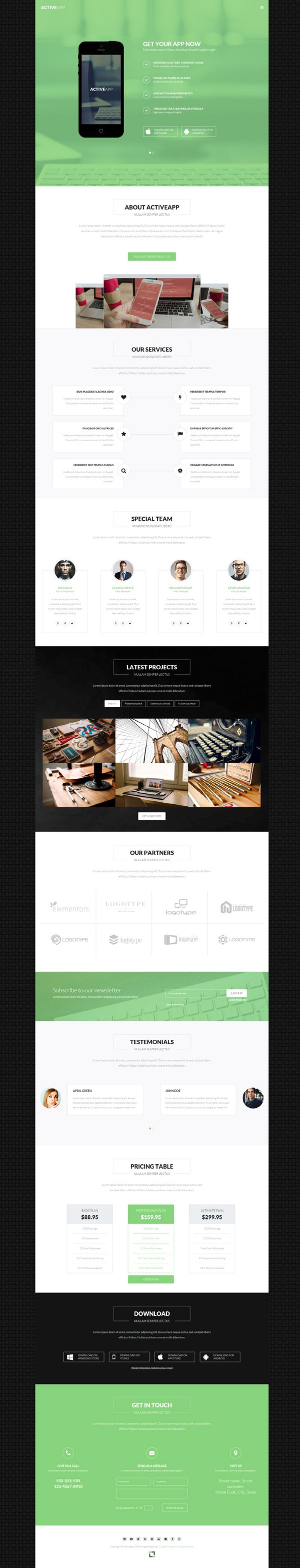 Activeapp - Joomla software presentation template