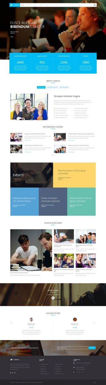 Campus - Education Joomla Template