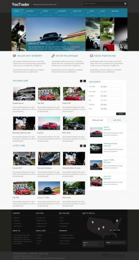 Youtrader - Responsive Joomla Cars Template