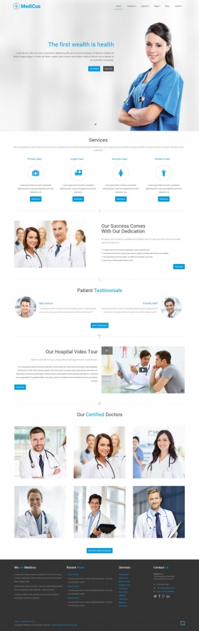 Medicus -  Medical Joomla Template