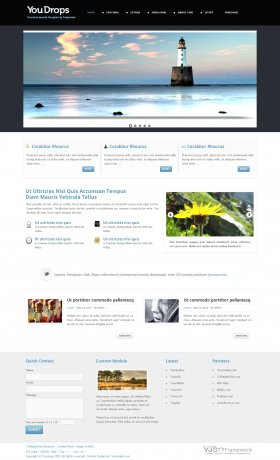 Youdrops - All purpose Joomla Template