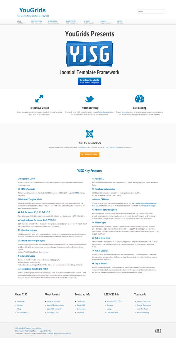 YouGrids - Free Joomla Template YJSG Powered