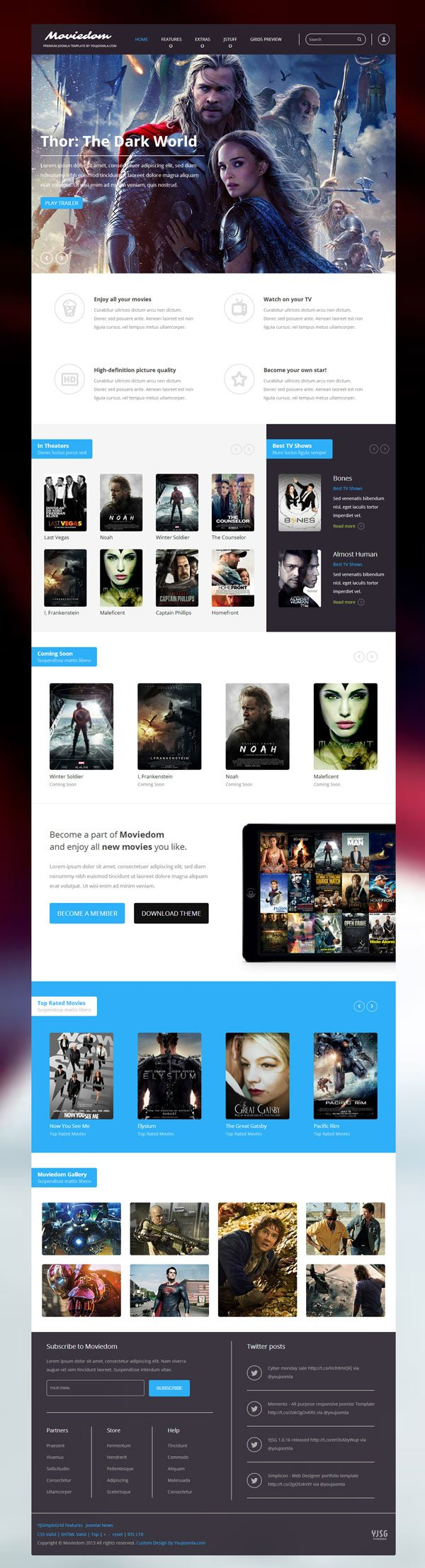 Moviedom - Joomla Movies Template