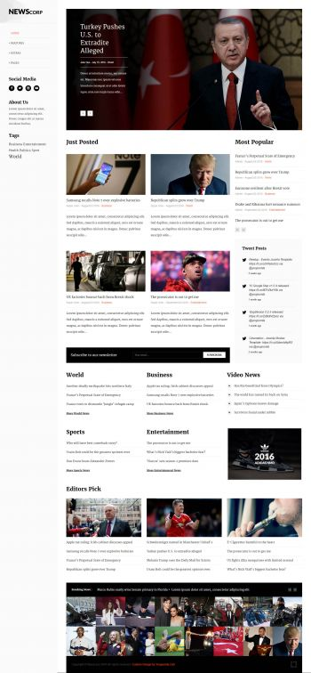 Newscorp - News Magazine Portal