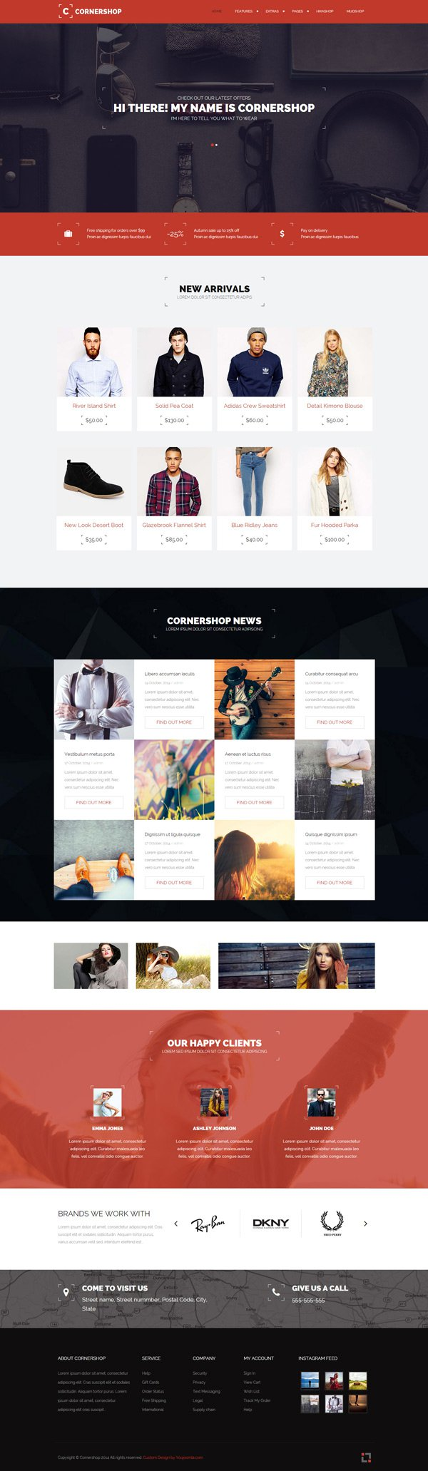 Cornershop - Responsive Mijoshop and Hikashop Joomla Template