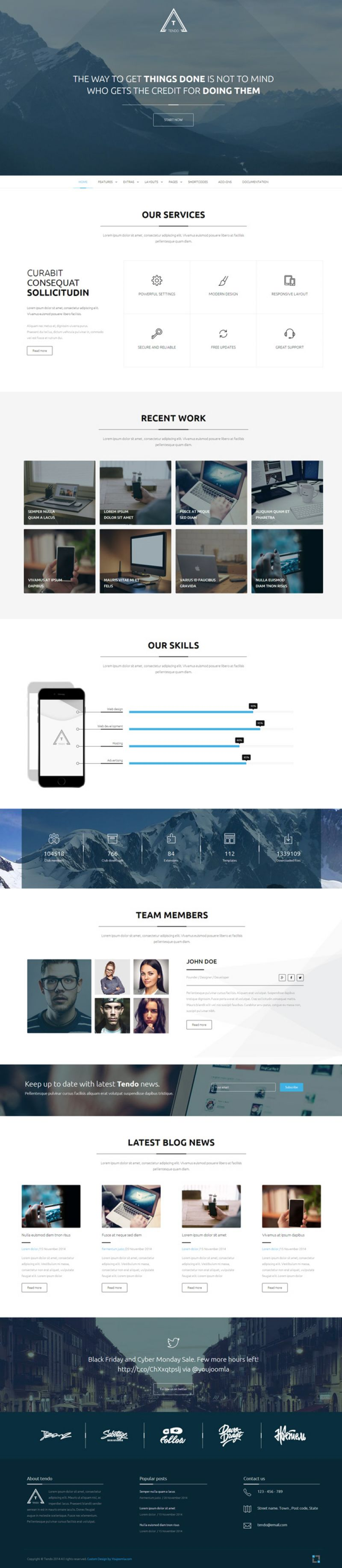 Tendo - Multipurpose Joomla Template