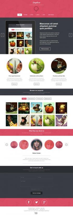 Simplicon - Web Designer portfolio template