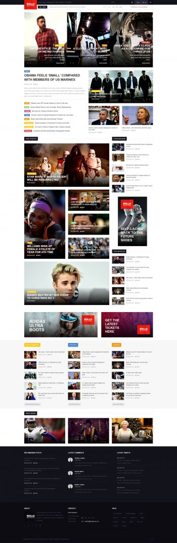 Rollo - News Magazine Joomla Template