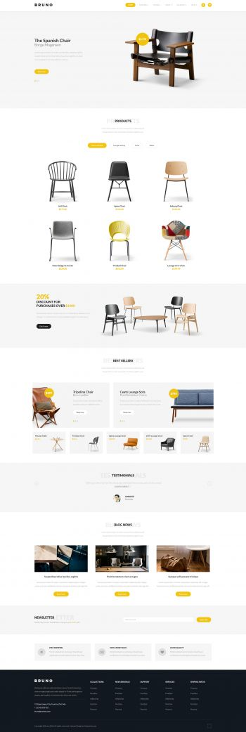 Bruno - Joomla Shop Template
