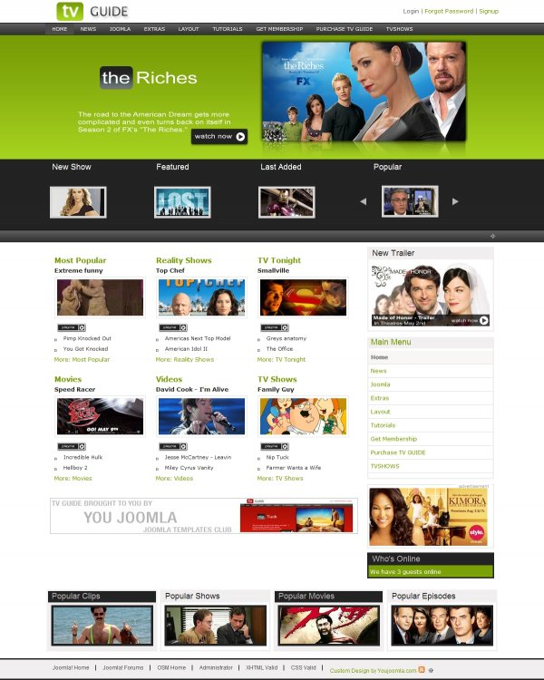 TVGuide - First Joomla Tv Guide
