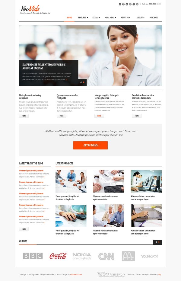 Business Joomla Template With Responsive Layout