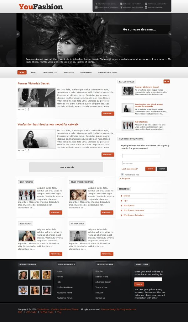 YouFashion -  Fashion WordPress theme
