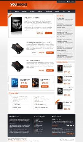 Youbooks - Web Shop Joomla Template