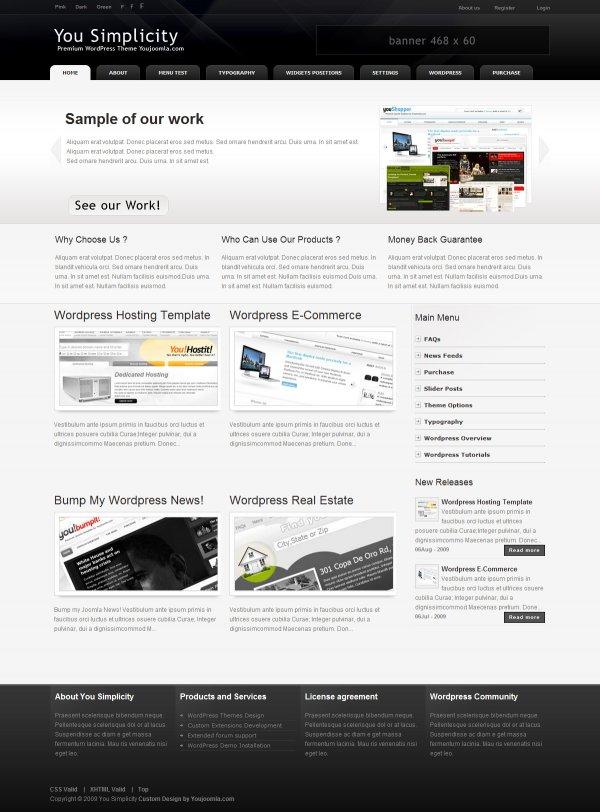 YouSimplicity -  All Purpose WordPress theme