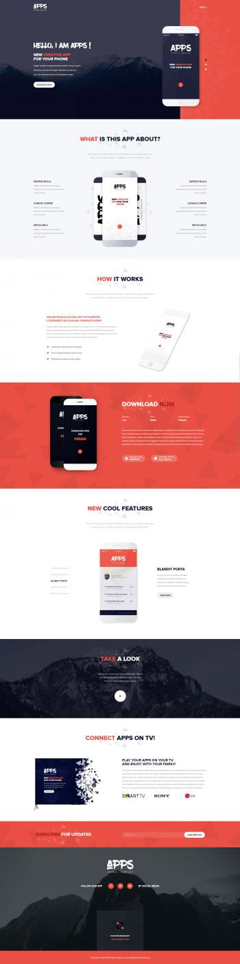 Apps - Mobile Applications Joomla Template