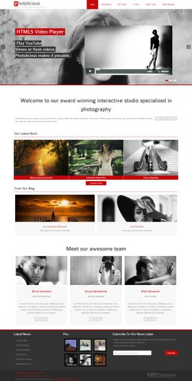 Photolicious - Joomla Photo Studio Template