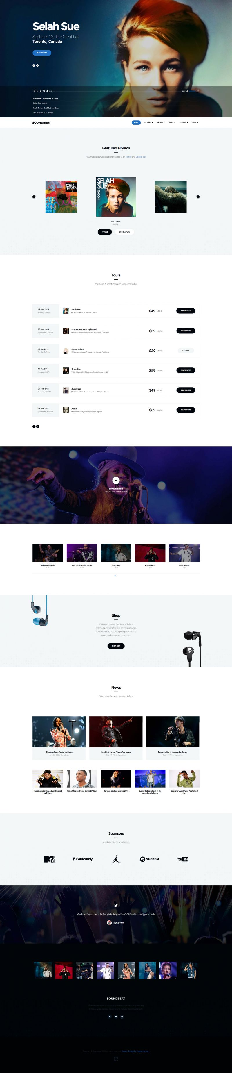 Soundbeat joomla music ecommerce template maxwellsz