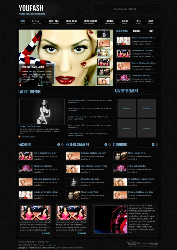 Youfash - Fashion Joomla Template