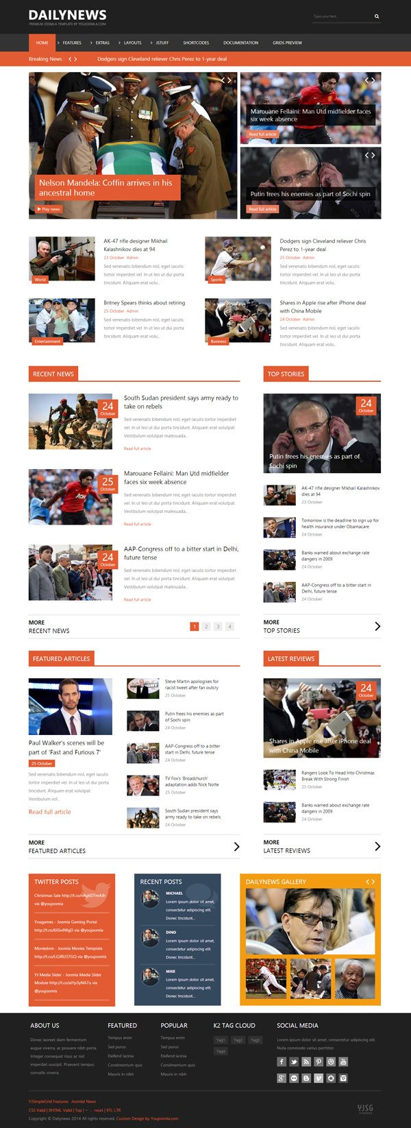 dailynews news joomla template