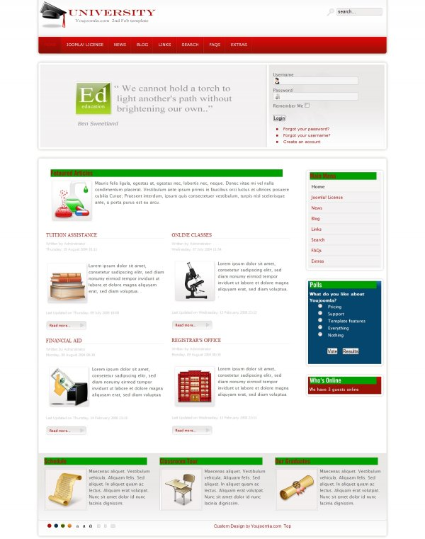 University - Educational Joomla Template
