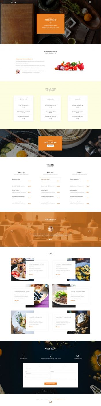 Foody - Restaurant Joomla Template