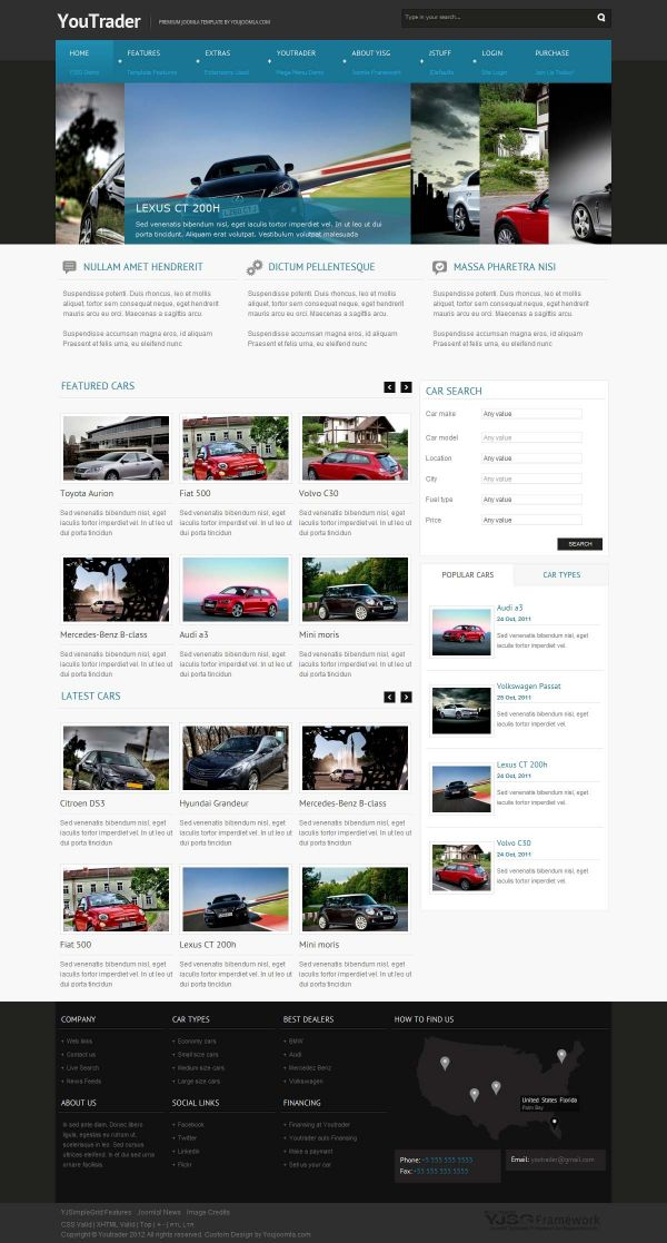 Responsive Joomla Car template