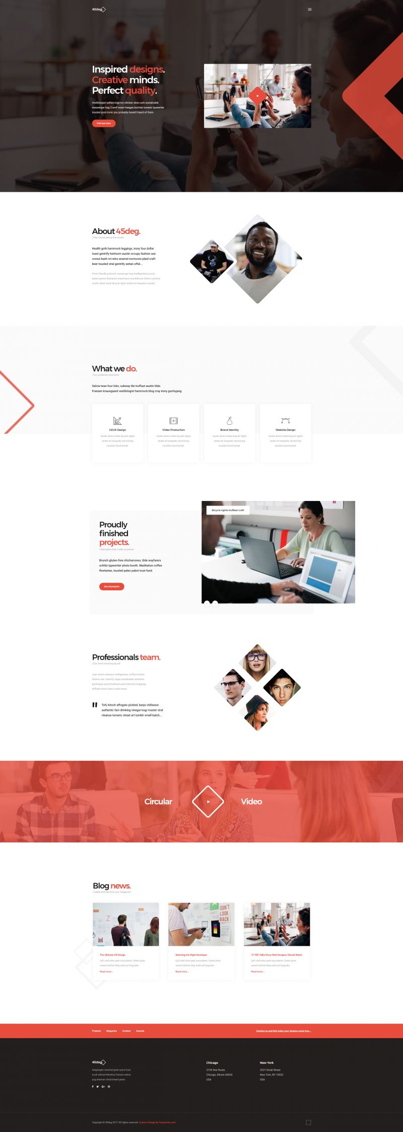 45deg - Joomla! Agency Template