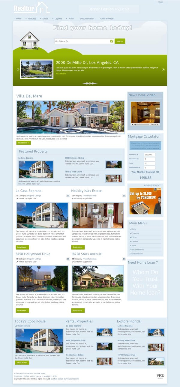realtor joomla real estate template