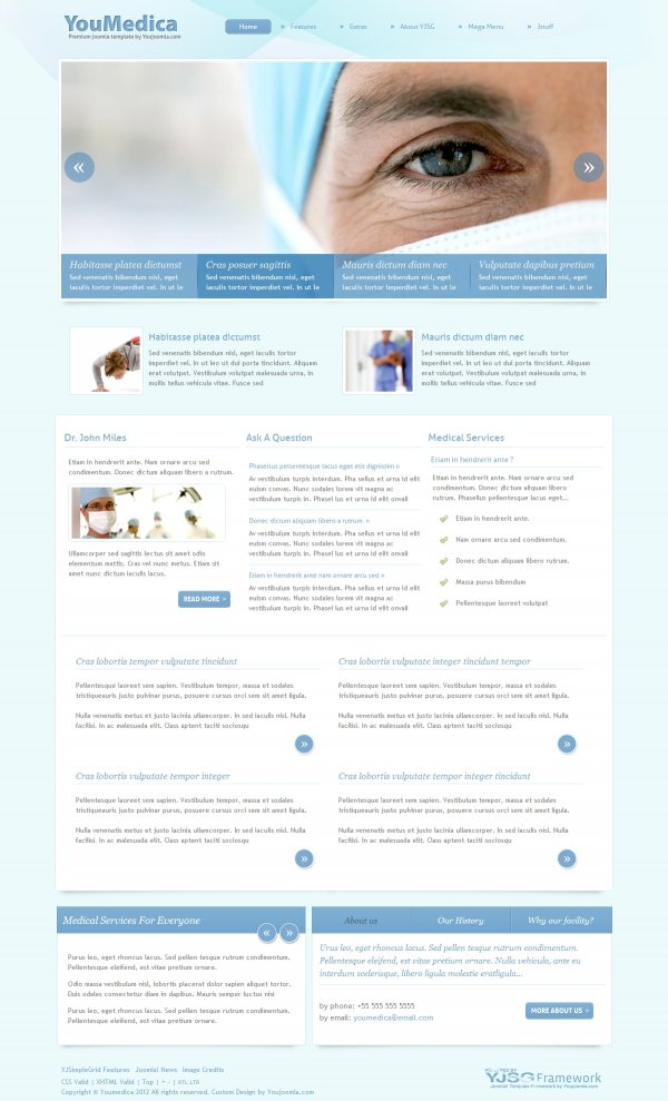 YouMedica best joomla template for create medical website