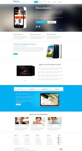 Proapps - Responsive Software Presentation Joomla Template