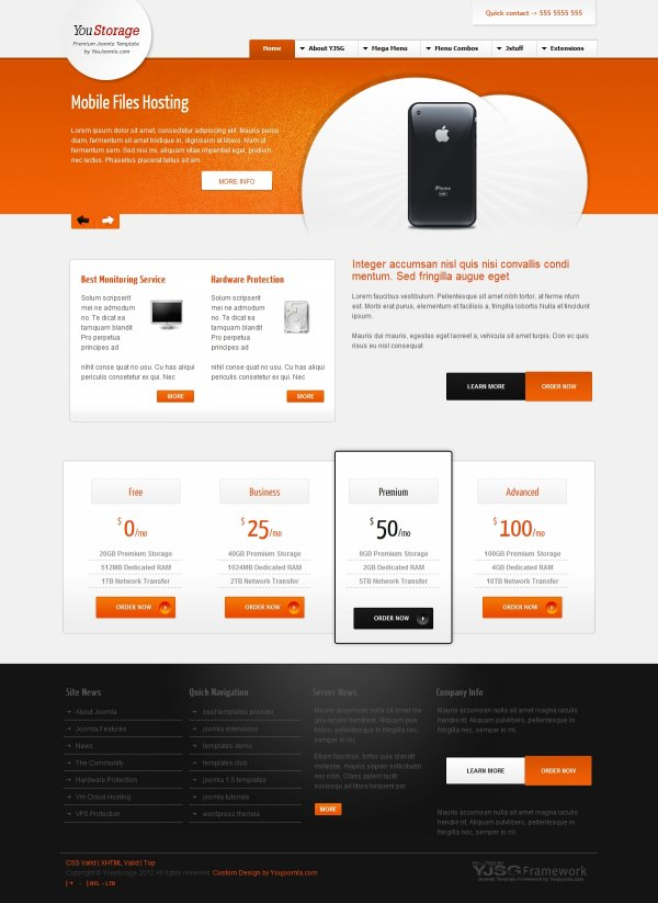 YouStorage - Hosting Joomla Template