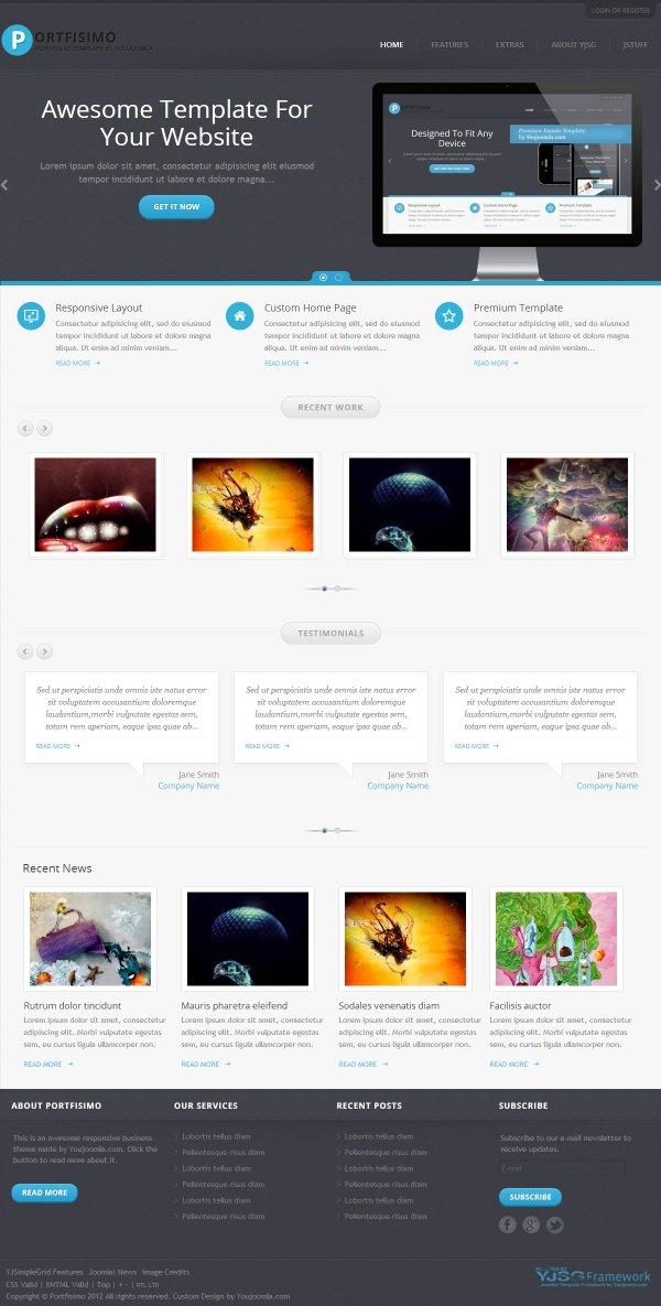 Portfisimo - Graphic Designer Portfolio Template