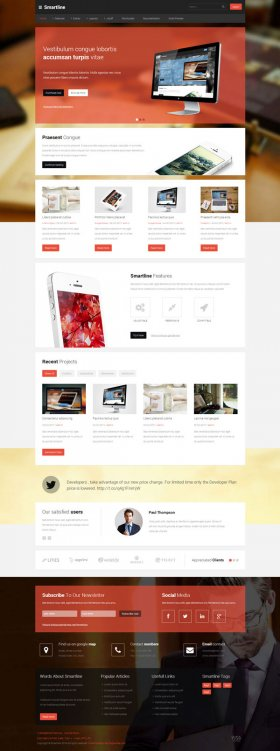 Smartline - Creative Business Joomla! Template