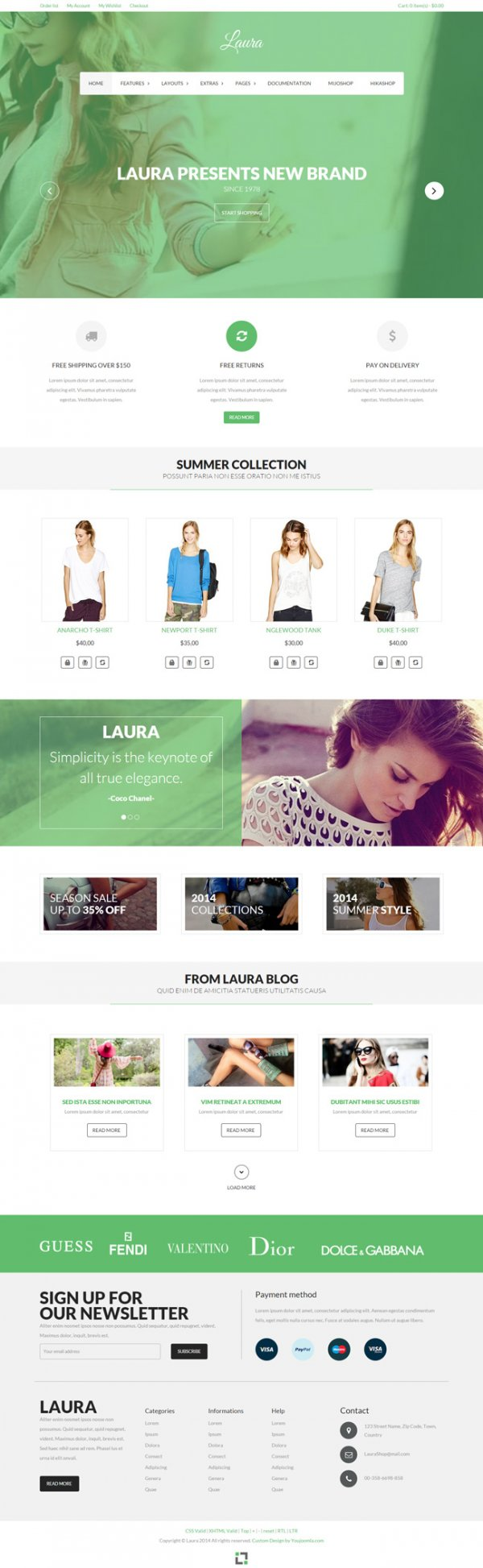 Laura - Joomla eCommerce Template Featuring Mijoshop and Hikashop