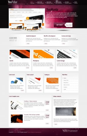 YouPulse - Web Showcase Joomla Template