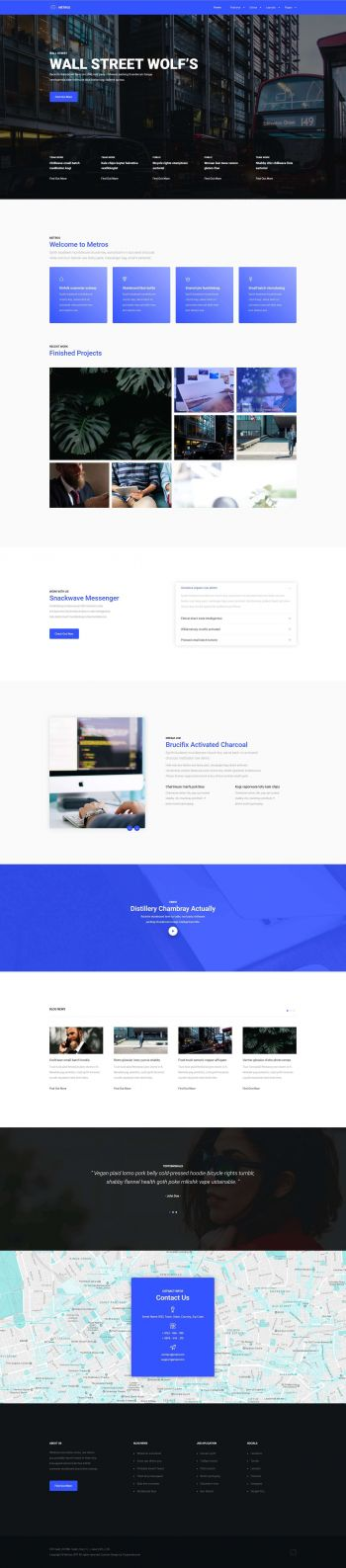 Metros - Joomla! Business Template