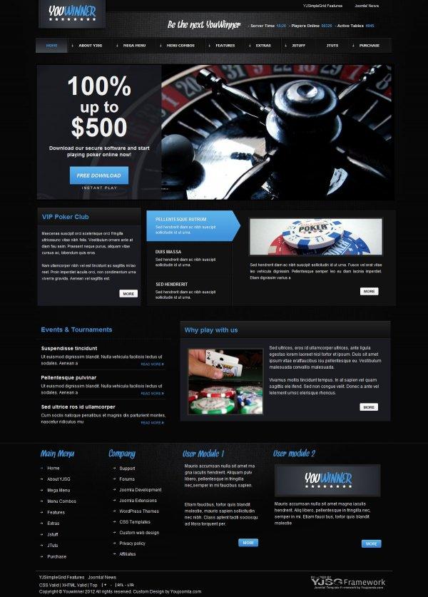 Шаблон для казино joomla вакансии в казино вулкан