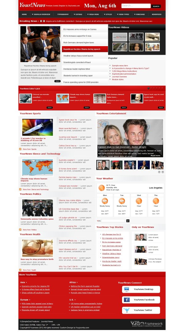 YourNews - Joomla News Portal