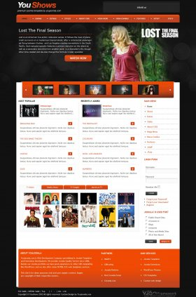 YouShows - Joomla TV Shows Template