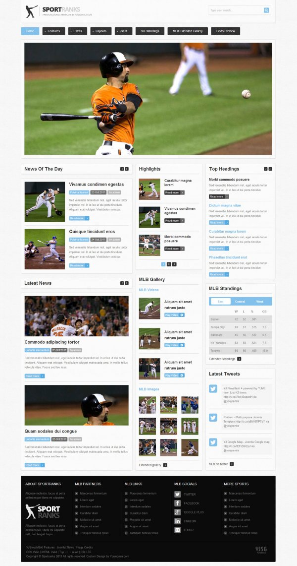 Sportranks - Joomla Sports Template