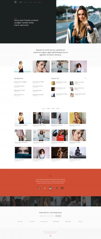 Brook -  Lifestyle Blog Joomla Template