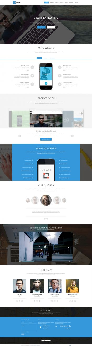 Explore - Multipurpose Joomla Template